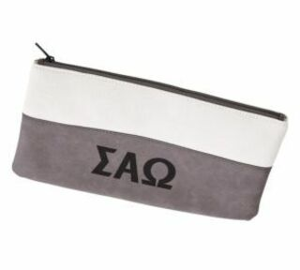 Sigma Alpha Omega Letters Cosmetic Bag