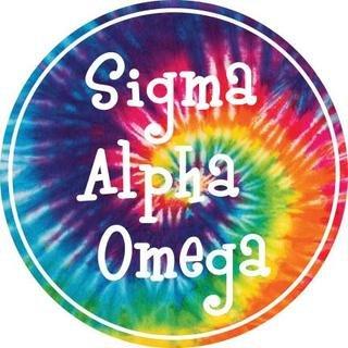 Sigma Alpha Omega Tie-Dye Circle Sticker