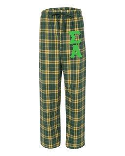 Sigma Alpha Pajamas -  Flannel Plaid Pant
