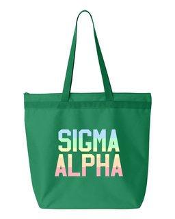 Sigma Alpha Pastel Tote Bag
