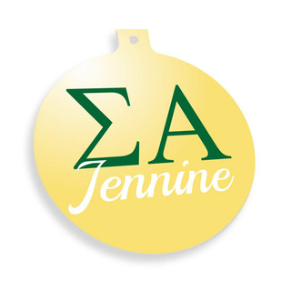 Sigma Alpha Personalized Christmas Ornaments