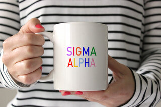 Sigma Alpha Rainbow Coffee Mug