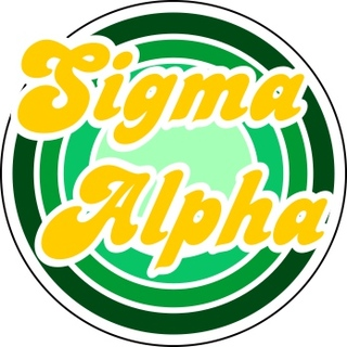 Sigma Alpha Retro Round Decals