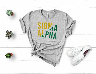 Sigma Alpha Ripped Favorite T-Shirt