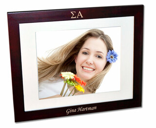 Sigma Alpha Rosewood Picture Frame