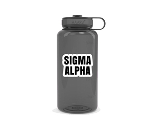 Sigma Alpha Simple Wide Mouth Water Bottle