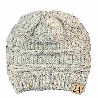 Sigma Alpha Sorority CC Messy Bun Beanies