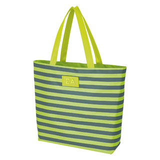 Sigma Alpha Stripes Tote Bag