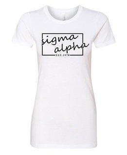 Sigma Alpha Triblend Short Sleeve Box T-Shirt