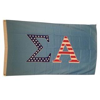 Sigma Alpha USA Greek Letter Flag