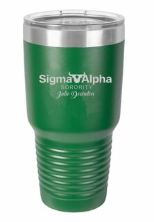 Sigma Alpha Vacuum Insulated Mascot Tumbler