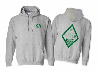 Sigma Alpha World Famous Crest - Shield Hooded Sweatshirt- $35!