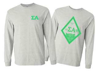 Sigma Alpha World Famous Crest - Shield Long Sleeve T-Shirt - $19.95!
