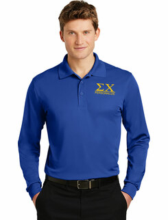 Sigma Chi- $30 World Famous Long Sleeve Dry Fit Polo