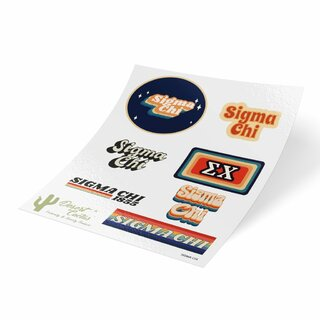 Sigma Chi 70's Sticker Sheet