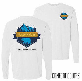 Sigma Chi Big Bear Long Sleeve T-shirt - Comfort Colors