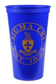 Sigma Chi Big Plastic Stadium Cup
