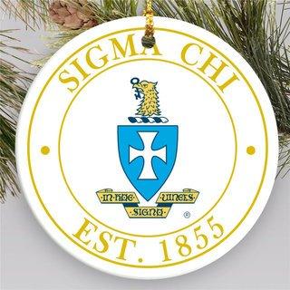 Sigma Chi Circle Crest Round Ornaments