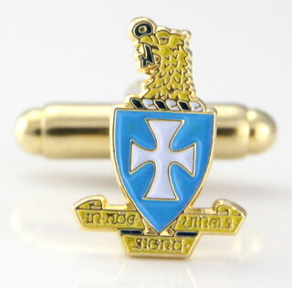 Sigma Chi Color Crest - Shield Cuff links