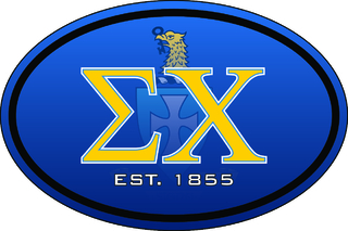 Sigma Chi Color Oval Decal