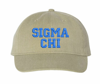 Sigma Chi Pigment Dyed Baseball Cap