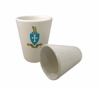 Sigma Chi Crest Ceramic Collectors Glass