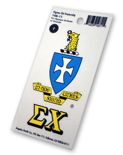 Sigma Chi Crest - Shield Decal