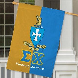 Sigma Chi Crest House Flag