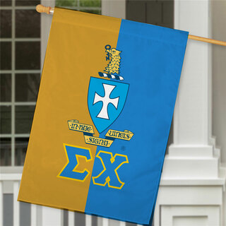 Sigma Chi Crest House Flag