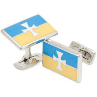 Sigma Chi Flag Cufflinks