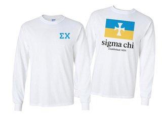 Sigma Chi Flag Long Sleeve T-shirt