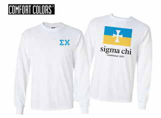 Sigma Chi Flag Long Sleeve T-shirt - Comfort Colors