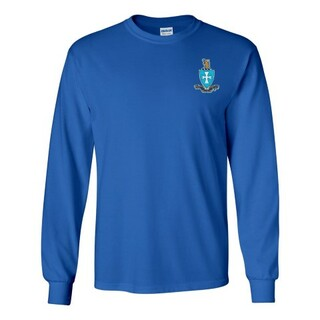 DISCOUNT-Sigma Chi Fraternity Crest - Shield Longsleeve Tee