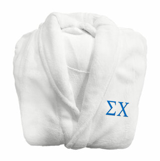Sigma Chi Fraternity Lettered Bathrobe
