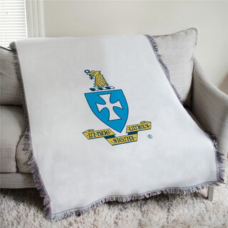 Sigma Chi Full Color Crest Afghan Blanket Throw