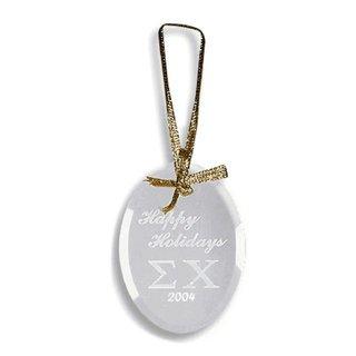 Sigma Chi Glass Ornament