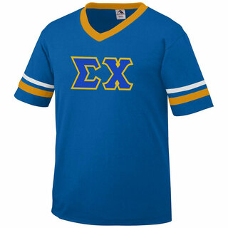 DISCOUNT-Sigma Chi Jersey With Greek Applique Letters