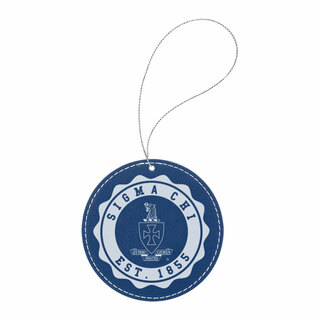 Sigma Chi Leatherette Crest Holiday Ornament