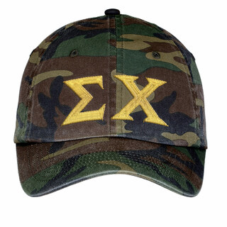 Sigma Chi Lettered Camouflage Hat
