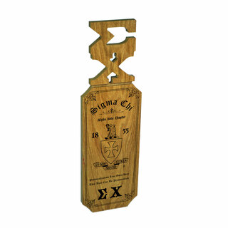 Sigma Chi Lettered Handle Paddles
