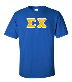 Sigma Chi Sewn Lettered T-Shirts