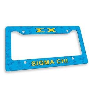 Sigma Chi Custom License Plate Frame