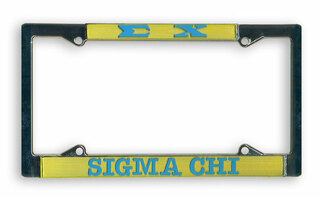 Sigma Chi License Plate Frame
