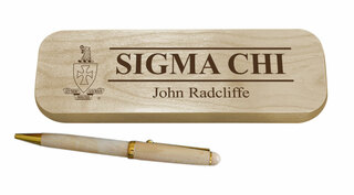 Sigma Chi Maple Wood Pen Set