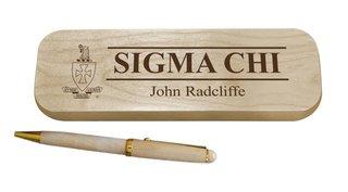 Sigma Chi Maple Wood Pen Set