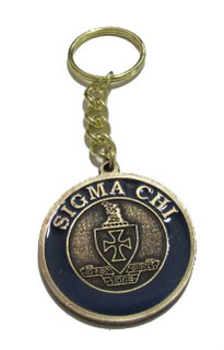 Sigma Chi Metal Fraternity Key Chain