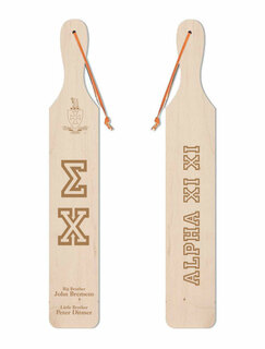 Sigma Chi Old School Wood Greek Paddle
