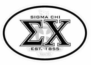 Sigma Chi Oval Crest Sticker