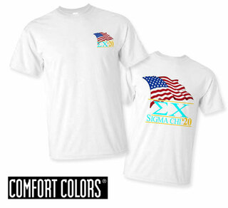 Sigma Chi Patriot  Limited Edition Tee - Comfort Colors