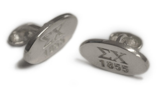Sigma Chi Sterling Silver Est. Cuff Links